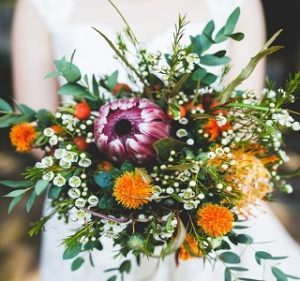 Design Ideas Protea Foliage Resendiz Brothers Wedding